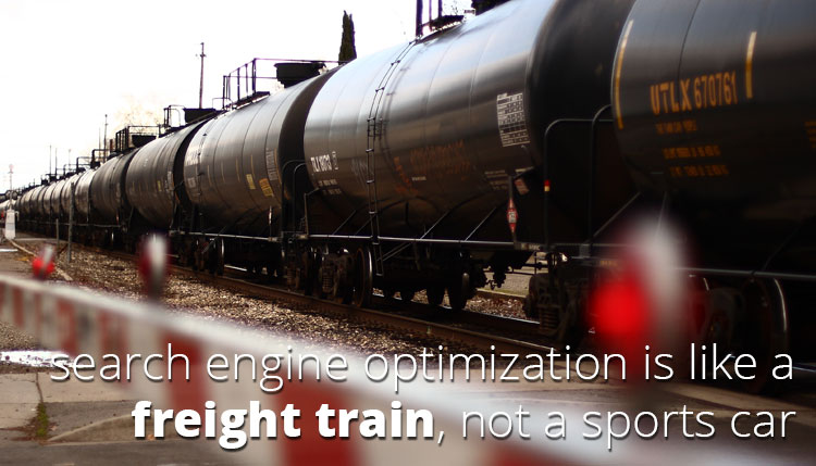 Search is like a train